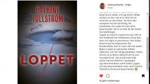 Loppet, recensioner, Catrine Tollström